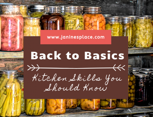 Back To Basics Kitchen Skills You Should Know